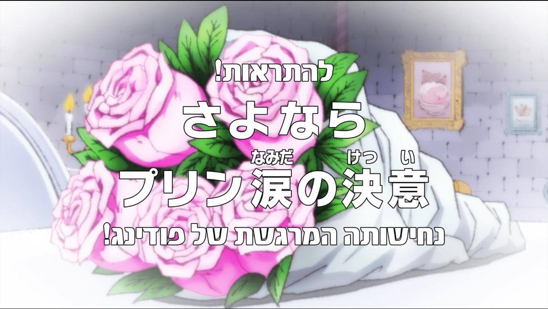 """Photo of פרק 815 מתורגם לעברית: """"נחישותה המרגשת של פודינג!"""""""